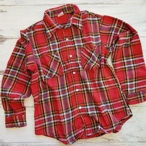 Vintage Big Mac JCPenney Men's Flannel Plaid Top